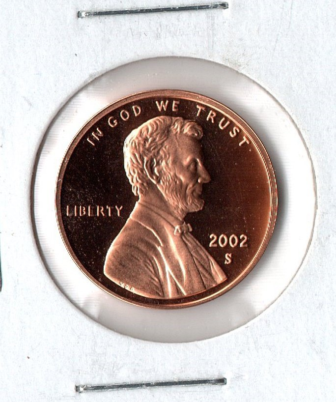 U.S. 2002-S Proof Lincoln Cent (8-18-21)