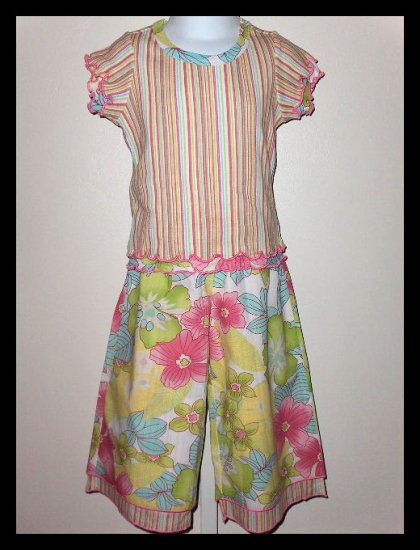 New without tags Pink Tangerine Baby Nay Luau pant top set XS (4X) size girls 4