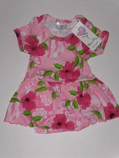 New Mad Sky Palm Beach Polo skirted onesie dress infant girls 9 months