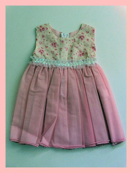 New Kid Rascal Pink dress toddler girls 4T Easter Wedding Spring Summer
