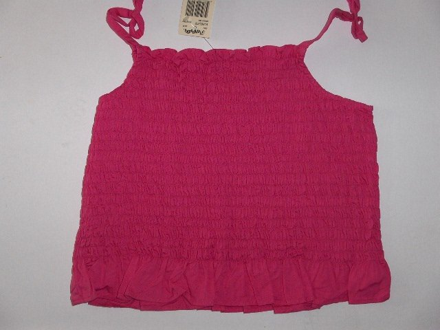 New Bright Pink Flapdoodles Smocked Tank top girls size 8