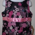 New Black Floral K.C. Parker tank top girls size 6X