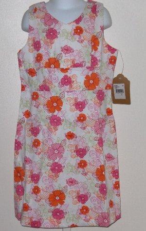 New K.C.Parker by Hartstrings Floral print sun dress girls size 16