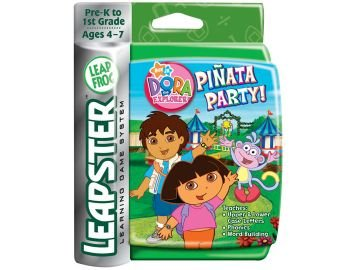 New Leapster Dora the Explorer Pinata Party! Arcade Style Learning Ages 4-7 grades Pre K - 1st Grade