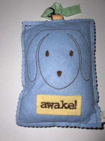 New Tree by Kerri Lee door knob sign blue awake puppy brown asleep puppy for baby