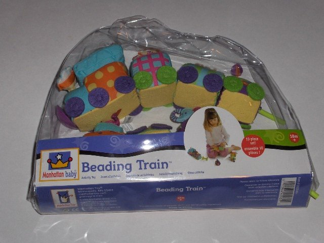 Manhattan baby Beading Train baby activity toy ages 18 months +