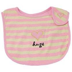 New Elegant Baby striped hugs bib baby girl gift
