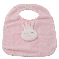 New Angel Dear by Fun Bath pink bunny bib baby girl soft
