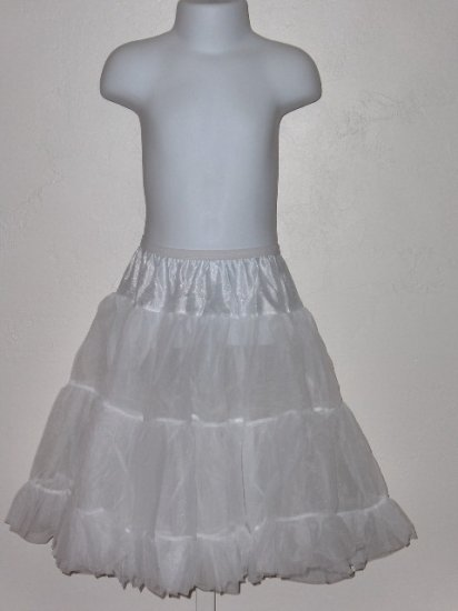 New Girls J.C. Collections size 7 knee length half petticoat
