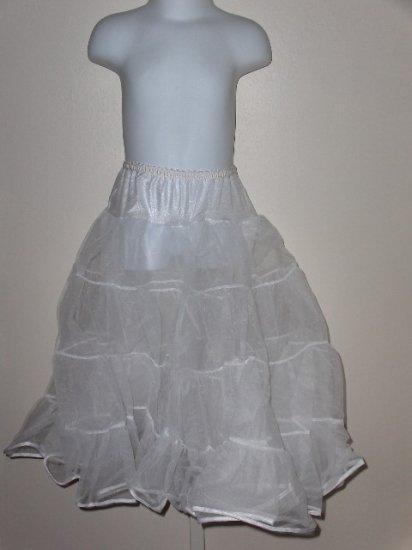 New girls size 16 Tea Length half petticoat slip wedding party