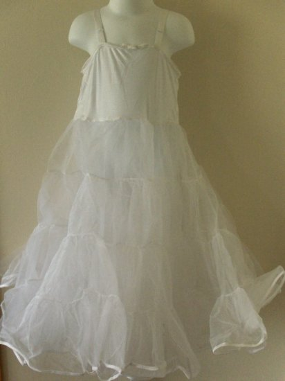 New girls size 7 knee Length full petticoat slip wedding party