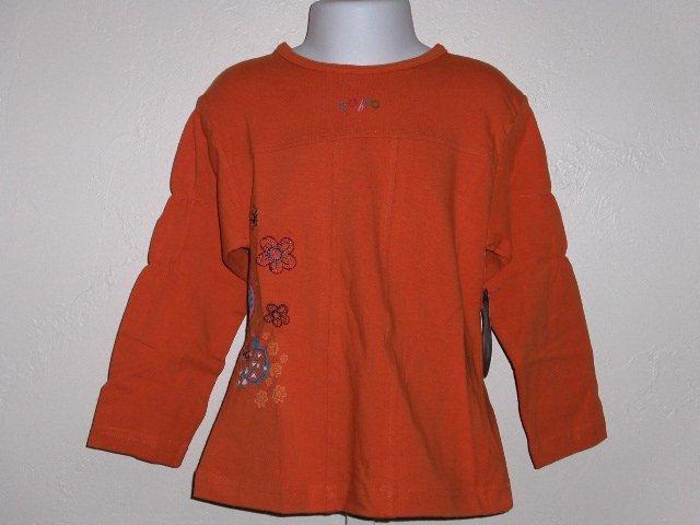 New Kaboo Orange long sleeve top girls size 3 3T