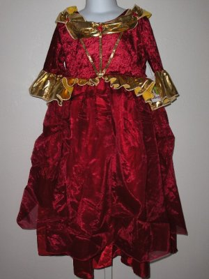 Little Adventures Winter Beauty Red Deluxe Girls costume size large ages 5-7