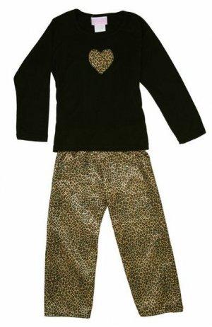 NWT Leopard Print Pajamas from pijayz of Sara's Prints size girls 12