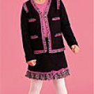 sale Sister Sam Fringed Black Pink Cardigan girls size L 12 14