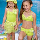 New Kate Mack Lime Green ruffle cover-up size girls S