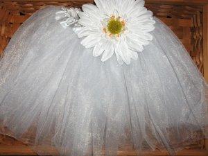 Elegance White Daisy tutu