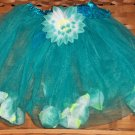 Turquoise Blue Flower Filled Tutu