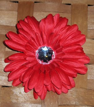 Red Gerbera Daisy Hair Clip