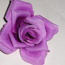 Purple Rose Hair Clip