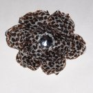 Leopard Peony Hair flower clip
