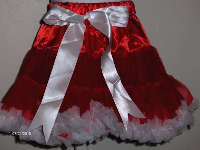sale Kimberly Red and White pettiskirt girls size 3-4 years size 100