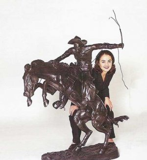 Monumental Bronco Buster by Frederic Remington