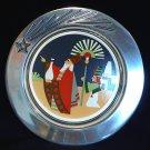 Wilton Armetale Christmas Plate The Departure Ltd Edition Sechrist 1993