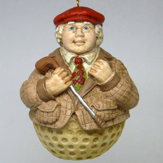 Mera Vic Christmas Ornament Golfer Man Golfing Golf Ball