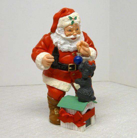 Coca Cola and Hallmark Santa Christmas Ornament Playful Pals 1993