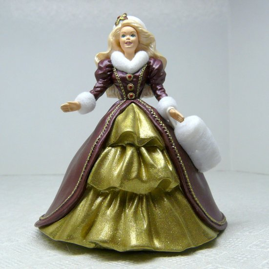 Hallmark Keepsake Christmas ornament Holiday Barbie Fourth in the Series 1996
