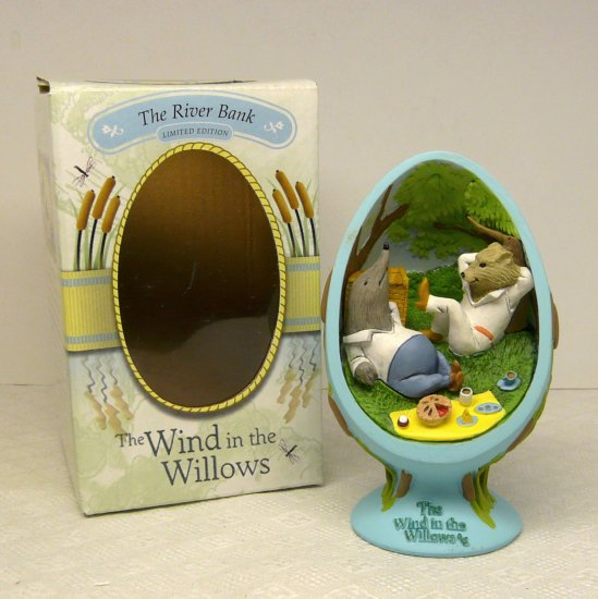 Wind in the Willows CVS Egg Figurine Ltd The River Bank 2002 w Box