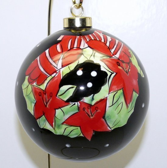 Christmas Ornament Modern Mainstreet Collection Ceramic Large Ball