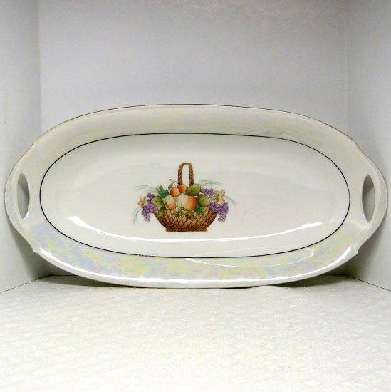 Vtg porcelain celery plate PM Bavaria Porzellanfabrik Moschendorf 1900s