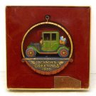 Vintage Hallmark Nostalgia Dated Christmas ornament with box antique car 1977 Linda Sickman box