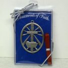 Christmas Ornaments of Faith pewter From the Crib to the Cross The Story of God's Love Christian