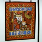 Mary Engelbreit Christmas ornament suncatcher stained glass Yes Virginia There Is