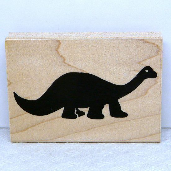 JRL Design Rubber Stamp large Dinosaur E