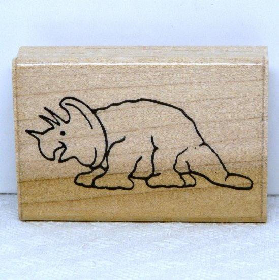 JRL Design Rubber Stamp Dinosaur F