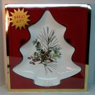 Lenox Tree Candy Dish Etchings Collection artist Catherine McClung winter berries pine cone new box