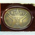 Vintage Marlboro belt buckle brass long steer star original package