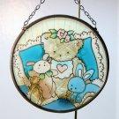 Joan Baker Designs glass suncatcher Baby Girl 3-1/2 inches 2001