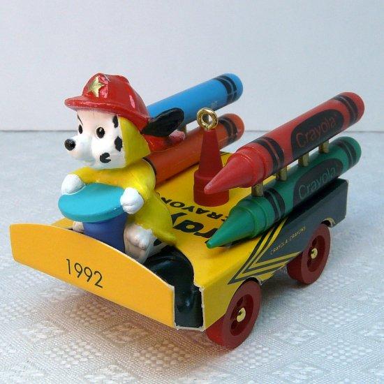 Hallmark Crayola Crayon Christmas ornament Bright Blazing Colors 4th in series 1992 fireman box