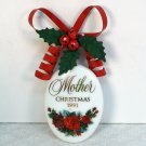 Hallmark Christmas ornament Mother porcelain roses 1991 QX545 7 Having You for a Mother Nicest Gift