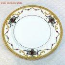 Vtg bread butter Royal Bayreuth ROB16 pattern porcelain plate Bavaria