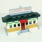 Vintage Hallmark Christmas ornament Donder's Diner 1990 Santa reindeer