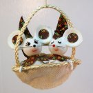 Vintage Christmas ornament 2 mice made in Japan