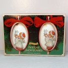 2 vintage Comar Christmas ornaments in box 1975