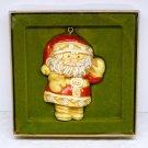 Vtg Hallmark Christmas ornament Santa Tree Treats Collection 1976 Season's Greetings Sue Tague