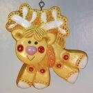 Vtg Hallmark Christmas ornament Reindeer Tree Treats Collection 1976 Merry Christmas hard to find